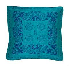 Vintage Turquoise Chinoiserie Throw Pillow