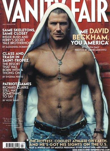david beckham cover boy shirtless american male model