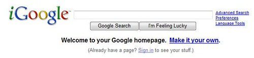 customize your igoogle homepage