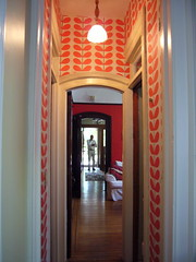 tiny hallway, big impact (hitbyabus) Tags: anthropologie beanstalk orlakiely