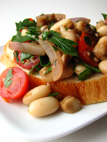 Warm Cannellini Bean Bruschetta III