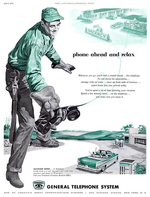 General Telephone System ad «Phone ahead and relax» by Dom Lupo