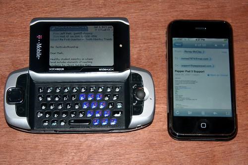 iPhone vs Sidekick III