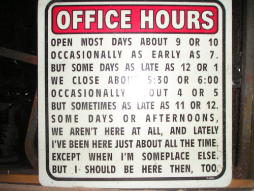 Funny Business Hours Sign S 10 Forum