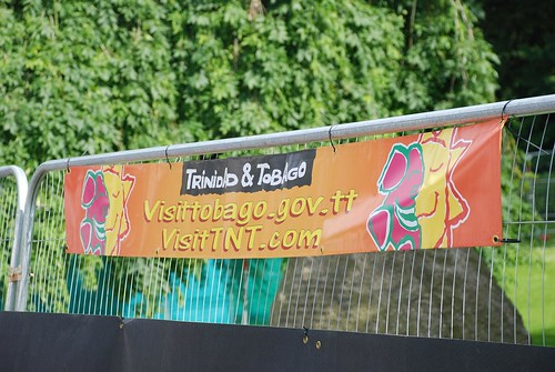 Trinidad and Tobago banner, Edinburgh 2008