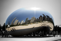 the bean (richietown) Tags: chicago reflection topf25 topv111 skyline canon illinois topv555 topv333 stock topv999 bean getty topv777 thebean 28135mm 30d mywinners richietown anawesomeshot