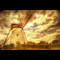 Once upon a long time ago (Dimitri Depaepe) Tags: texture windmill clouds bravo raw belgium hdr magicdonkey holidayvacanzeurlaub infinestyle thegoldenmermaid specialdimiangle kissdimitri