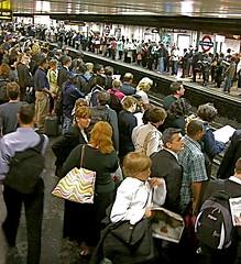 I took the bus... (Claire Tamara Davies) Tags: public underground union tube strike rushhour londontransport