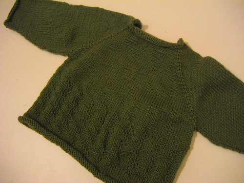green baby jumper