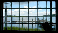 A look outside (Sco C. Hansen) Tags: sc window birds clouds river scott dock southcarolina carolina marsh hansen beaufort lowcountry beaufortcounty beaufortsc scotthansen