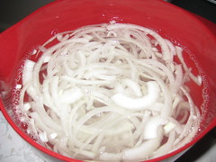 soaking the onions