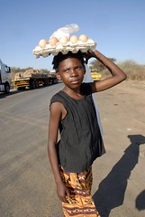 TRUCKING IN BOTSWANA (Claude  BARUTEL) Tags: africa truck transport eggs botswana trucking