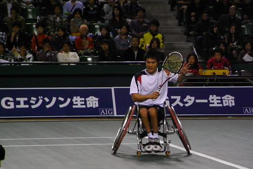 AIG Japan open exhibition game国枝慎吾選手