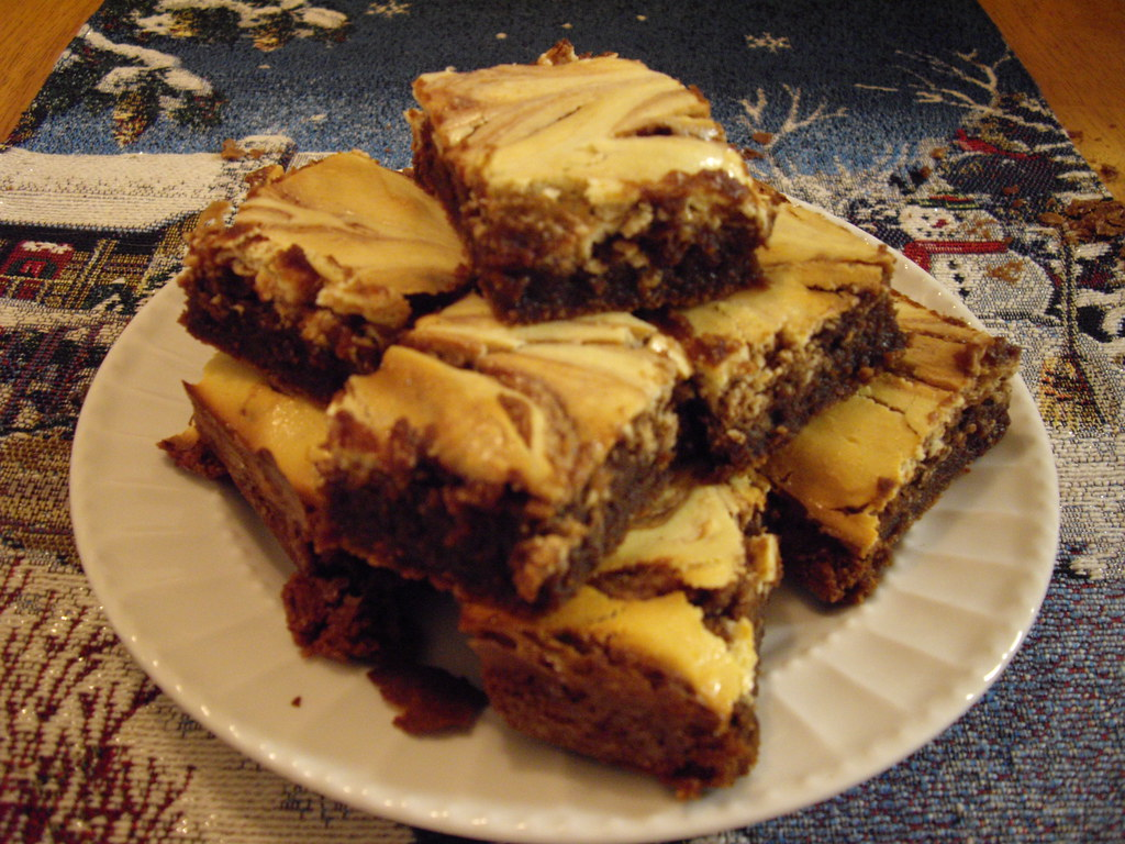 BAKERS One-Bowl Cream Cheese Brownies