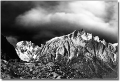 Mt Whitney from Alabama Hills (Romair) Tags: california blackandwhite mountains nature weather composite clouds outdoors scenic sierras sierranevadas instantfave blackwhitephotos onlythebestare