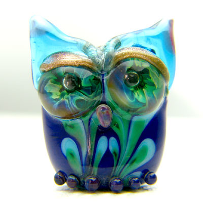 Glass Owl Beak, Lampwork by jawjee