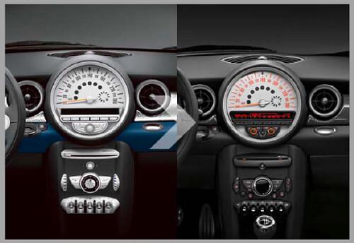 MINI Cockpit Prefacelift vs. Facelift