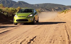 2011 Ford Fiesta on Navajo Nation Horse race track