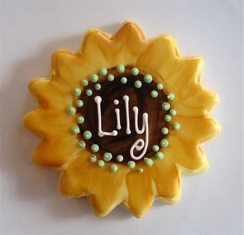 Personalized Sunflower Cookie