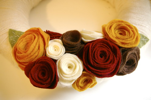 handmade felt flowers