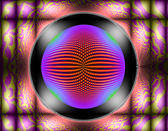 Tierazon 58 (Jane in Colour) Tags: red orange color colour art lines gold design bars purple circles patterns round fractals colourful tierazon janethomas janeincolour