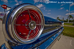 In Your Face (Jobe Roco) Tags: auto blue detail ford car vintage scott nikon louisiana automobile antique convertible 63 chrome collectible carshow fairlane taillight 1963 d60 4991 cajunharleydavidson bayoustatecorvetteclub