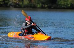 Workout on the Lake (Steve Lindenman) Tags: lake water us kayak northcarolina oar colonel beatty matthews lindenman