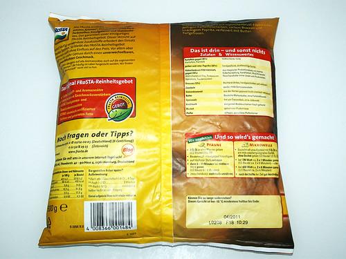 02 - Frosta Bratkartoffel Hähnchen Pfanne - Packung hinten