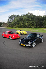 Porsche RS icons (marknauta.nl) Tags: red black sport yellow germany nikon mark 911 geel rood zwart rs touring carrera duitsland weeze 993 964 niederrhein d300 nauta clubsport marknautanl