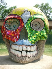 Up-Close & Personal With 'The Skull'-Niki de Saint Phalle (2000) (puroticorico) Tags: park plant chicago green nature museum forest dayofthedead death skull colorful natural conservatory fresh garfieldpark lawndale calavera