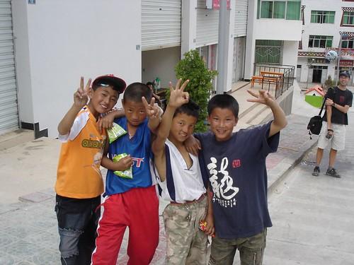Chinese boys posing, Xiangcheng