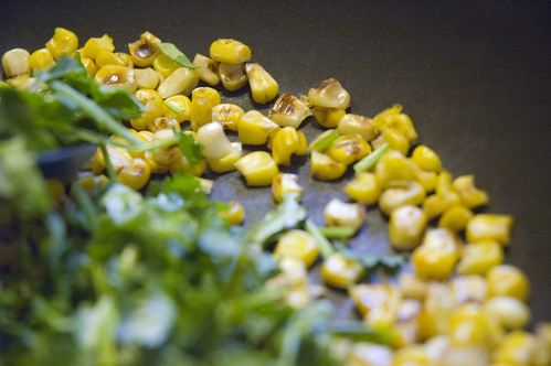 charred corn and coriander