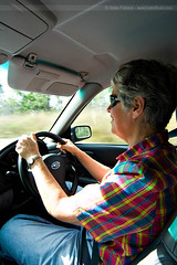Mum driving