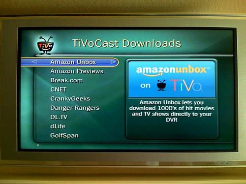 Amazon unbox on TiVo