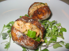 Acaraj (antiuser) Tags: dinner shrimp delicious homemade brazilian fritters blackeyedpeas acaraje blackeyepea