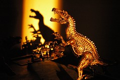 Dinosaur on the wall