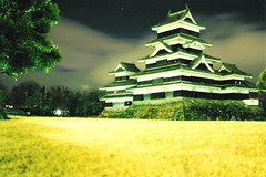 Matsumoto Castle by Night (sftrajan) Tags: 2005 castle japan night matsumoto nihon   honshu nikonem feudalism  japanalps matsumotocastle crowcastle  japanesecastles  matsumotoj