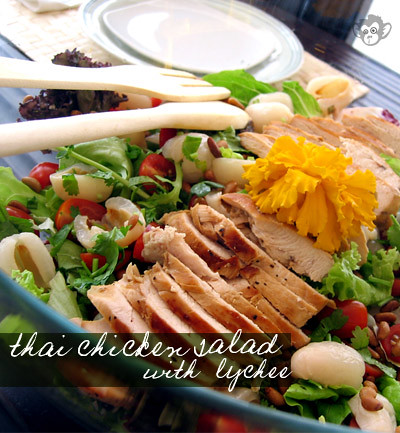 Thai Chicken Salad with Lychee