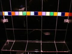 威秀影城有廣告的廁所--馬賽克磁磚一條