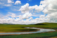 River Land and Clouds (Luo Shaoyang) Tags: china wallpaper sky nature landscape nikon scenery tibet microsoft geography    madeinchina    luo  naturesfinest    nikond200 geographile   supershot      landscapephotos anawesomeshot luoshaoyang colourartaward chinageography