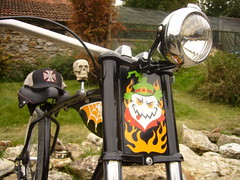 biker's bicycle