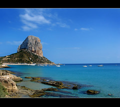 Queens Baths (Gary*) Tags: blue sea sky seascape boats spain bravo searchthebest med calpe rockofifach queensbaths magicdonkey lovephotography holidaysvacanzeurlaub