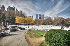 Wollman Rink #04, NYC (braesikalla) Tags: nyc newyorkcity people urban newyork architecture clouds cityscape centralpark manhattan midtown timewarnercenter essexhouse wollmanrink 10mm braesikalla