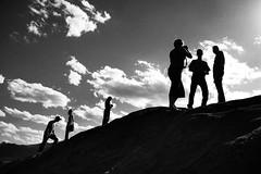 Tourists (.Bradi.) Tags: people rocks group silhouettes gardenofthegods tourists climbing co summit challengeyouwinner