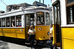 beautiful old yellow trams !