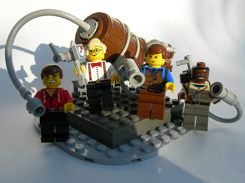 Steampunk Ghostbuster custom minifigs