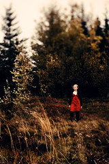 Little Red Riding Hood (Rn) Tags: red portrait girl canon iceland dof dress shift explore portraiture 28 tilt ts 45mm tse rauavatn 2007 ris tiltshift abigfave