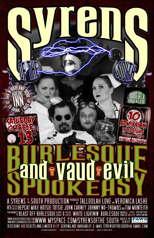 2007-10-13 Syrens Spookeasy Show Poster