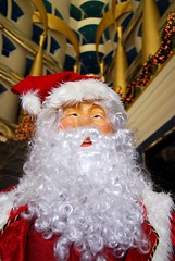 Santa at the Burj (Sarah_Ackerman) Tags: christmas travel hotel dubai uae middleeast lobby luxury unitedarabemirates burj 7stars burlalarab