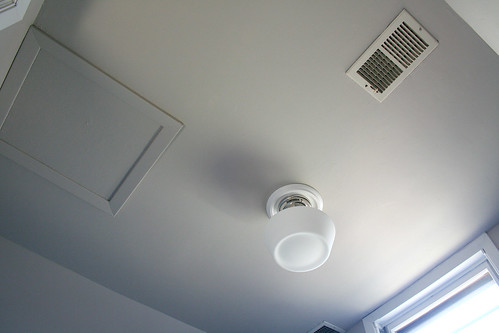 The Formerly Popcorn, Now Smooth Ceiling